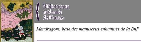 Mandragore, base des manuscrits enluminés de la BnF (logo)