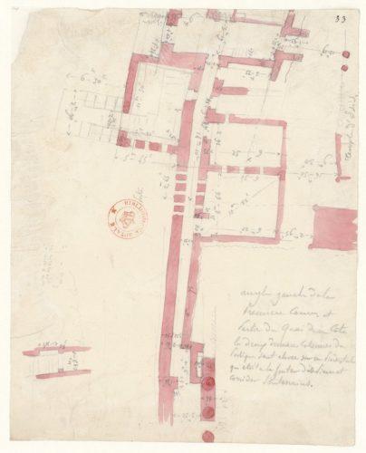 Egypte : philae, nilomètre (plan)