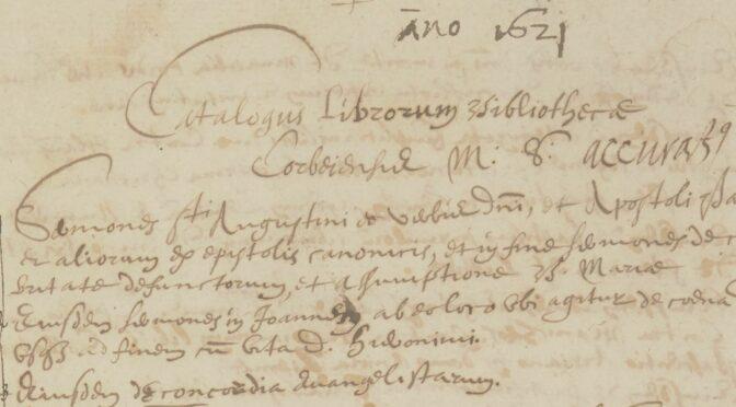 Esquisse de l'histoire de quelques manuscrits de Corbie